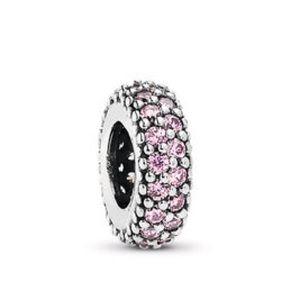 Pink Studded Pandora Charm 💖